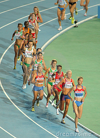 Competitors of 10000m Editorial Image