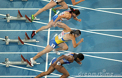 Competitors of 100m Women Editorial Image