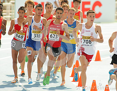Competitors of 3000m steeplechase Editorial Image