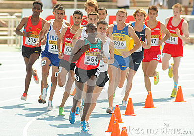 Competitors of 3000m steeplechase Editorial Stock Image