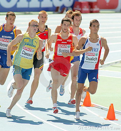 Competitors of 800m Men Editorial Photography