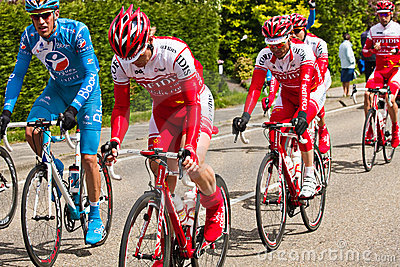 Competitors and teams in Giro d'Italia 2010 Editorial Stock Image