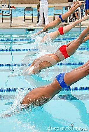 Free Competitve Swim Meet Stock Photos - 2227353