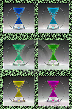 Compilation colored egg timers to 1960-1970