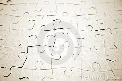 Complete blank jigsaw puzzle