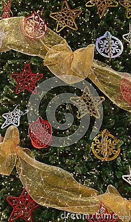 plete Decoration Christmas Tree Stock