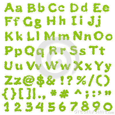 Complete Eco Green Alphabet