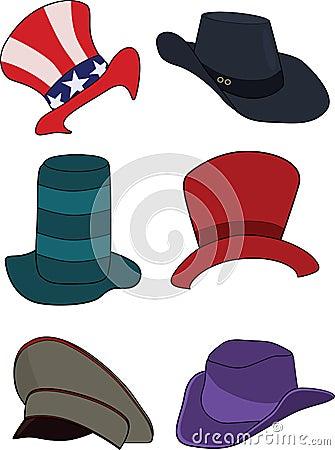 Complete set of hats, headdresses