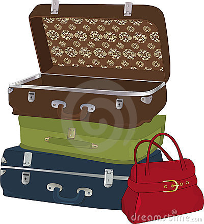 The complete set of suitcases