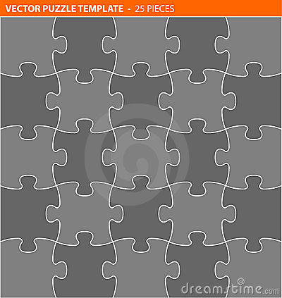 Complete vector puzzle / jigsaw template
