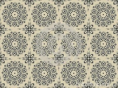 Complex ancient floral pattern