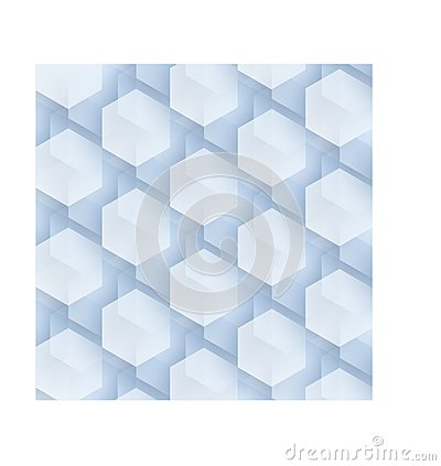 Complex hexagons background Cartoon Illustration