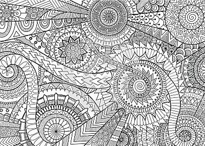 Complex Mandalas Design Stock Vector Image 73869354