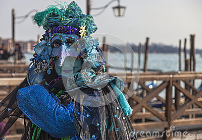 Complex Venetian Disguise Editorial Image