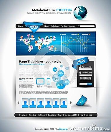 Complex Website Template - Elegant Design
