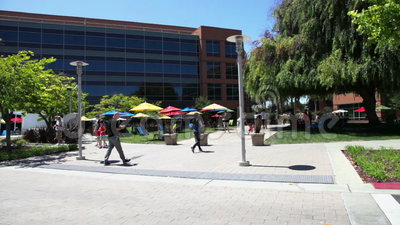 Complexe de bâtiments de Google banque de vidéos