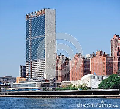 Complexo da nação unida em New York City Fotografia Editorial