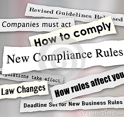 Free Compliance Headlines Newspaper Torn New Business Regulations Stock Photo - 41192300