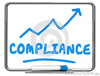 Compliance Rising Arrow Up Increase Improve Erase Board Stock Photo