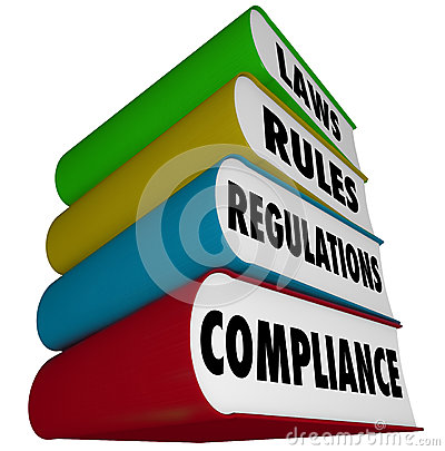 Free Compliance Rules Laws Regulations Stack Of Books Manuals Stock Photos - 35852963