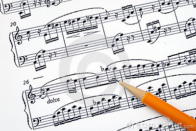 Compose the song on a music sheet