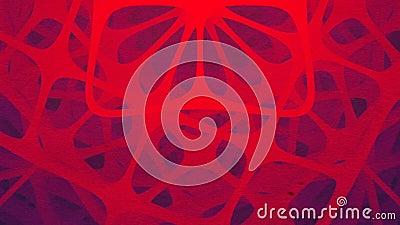 A composição futurista do vermelho da rotação arredondou formas Anima??o abstrata rendi??o 3d Defini??o de HD ilustração do vetor