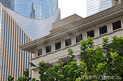 Composición por los edificios de la ciudad en Shangai
