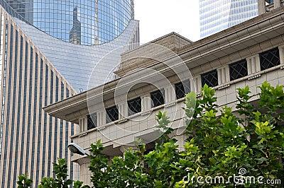 Composição por edifícios da cidade em Shanghai