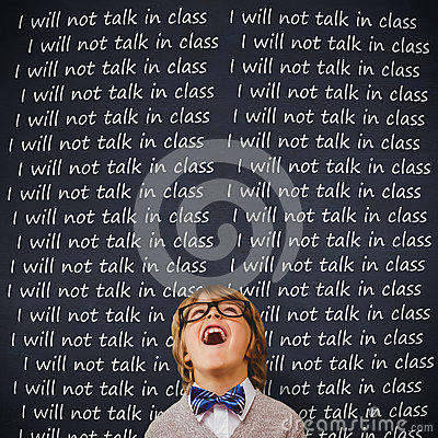 Free Composite Image Of Cute Pupil Dressed Up As Teacher Royalty Free Stock Photography - 63470837