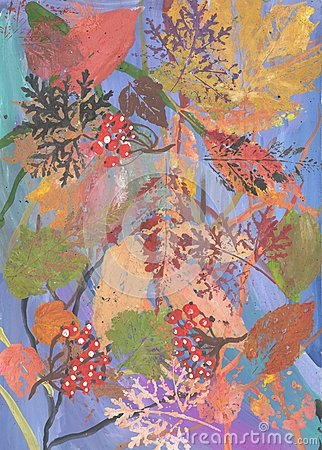 The composition of autumn leaves