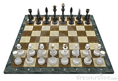 Composition with chessmen