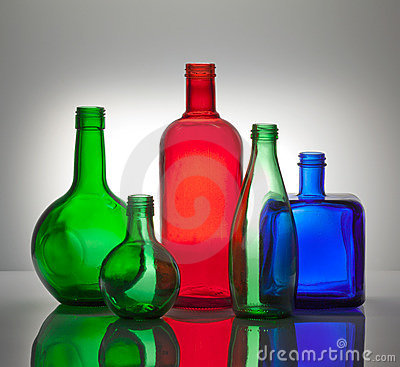 Composition from color glass bottles