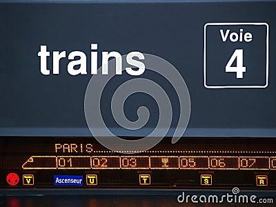 Composition des trains à destination de Paris