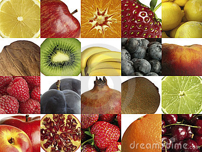 Composition of different fruit