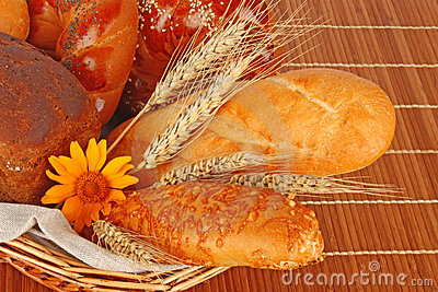 Composition of fresh bread