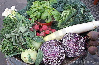 Composition of fresh vegetables