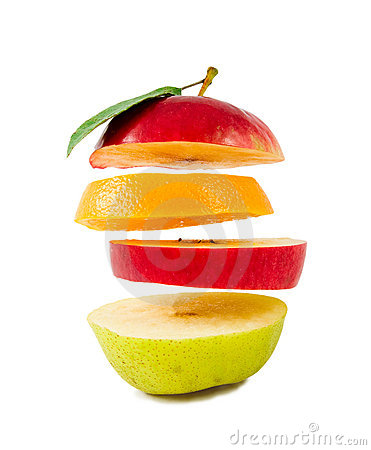 Free Composition Of Different Fruit Slices On White Royalty Free Stock Images - 11389659