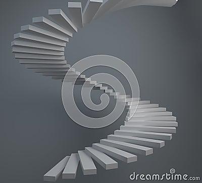 Scala a chiocciola astratta fotografie stock immagine for Scala a chiocciola 3d
