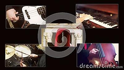 Composizione A nel quartetto di jazz di musica video d archivio