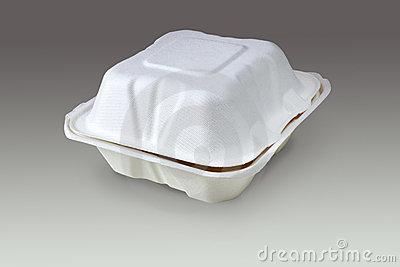 Compostable take out box (with clipping path)