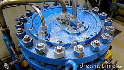 Compressore del diaframma Fabbrica del gas liquido video d archivio