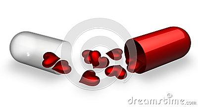 Comprimido quebrado do amor