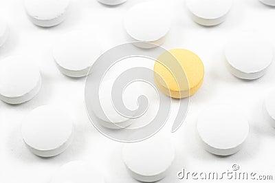 Comprimidos e drogas isolados