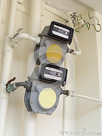 Compteurs à gaz normaux
