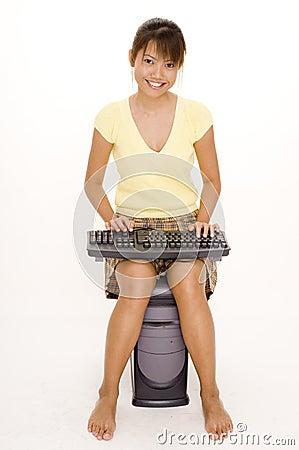 Computadora portátil extraña