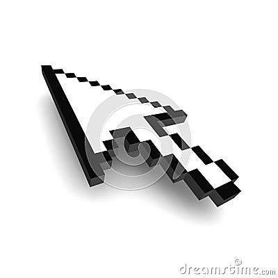 Computer arrow cursor 3d