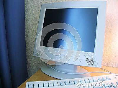 Computer bij het hotel
