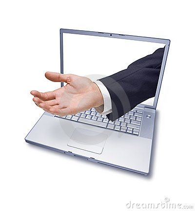 Computer Business Hand Charity