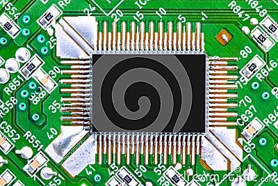 Computer-Chip- und Leiterplatte