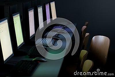 Computer classroom computers